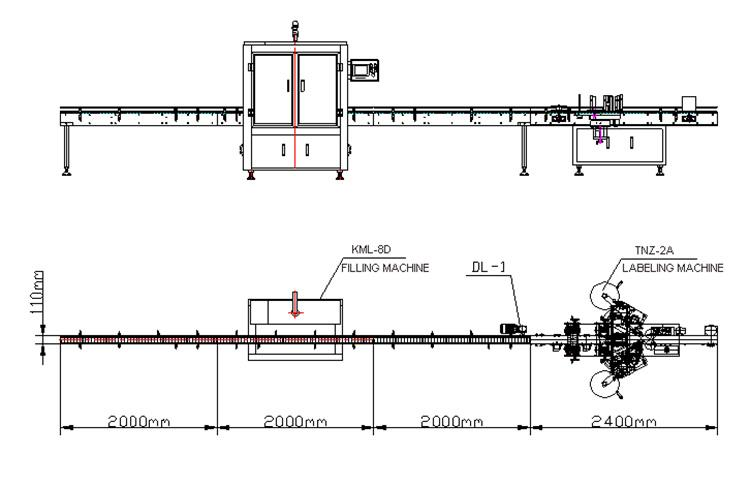 Automaitc接着剤2ステッカーフラットラウンドボトルラベリングマシン
