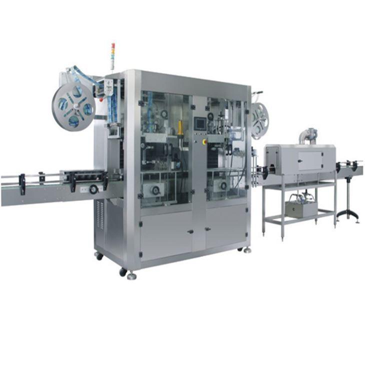 自動ダブルヘッドヒートPVCラベルシュリンクスリーブラベリングマシン