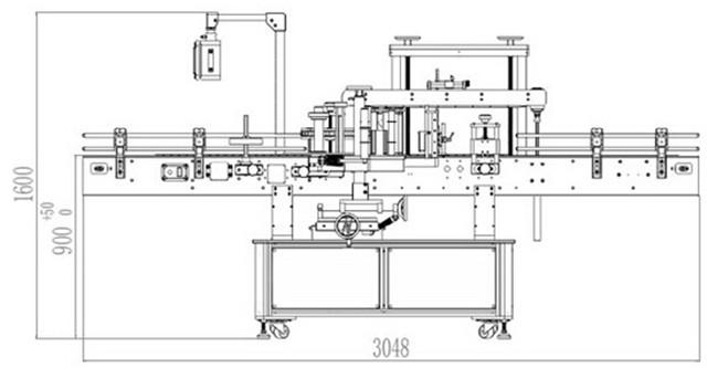 シャンプーローションボトル用自動両面ラベル機詳細