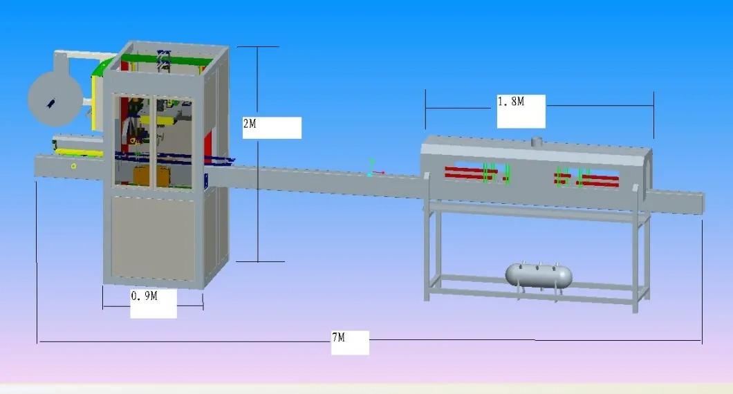 自動ミネラルウォーターボトルシュリンクスリーブラベリングマシン