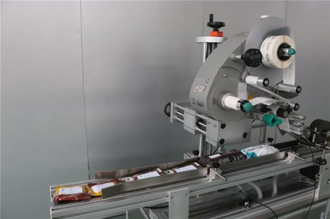 自動ステッカードイパックボックスカートンカップ上面ラベル付け機