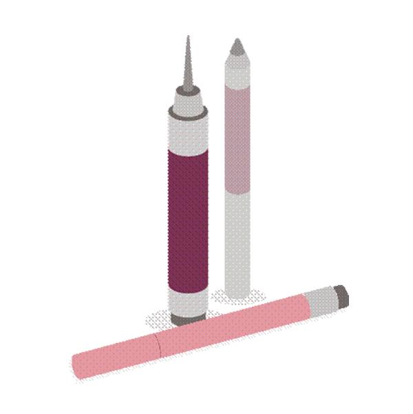 化粧鉛筆&ペン包装ラベル