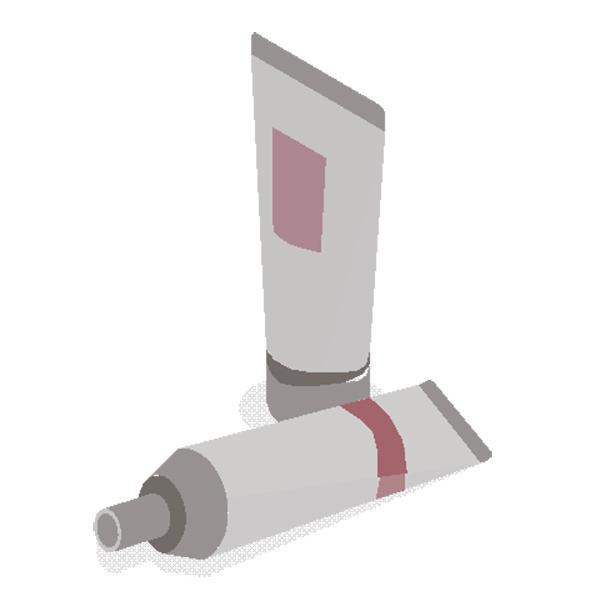 化粧品チューブ包装ラベル