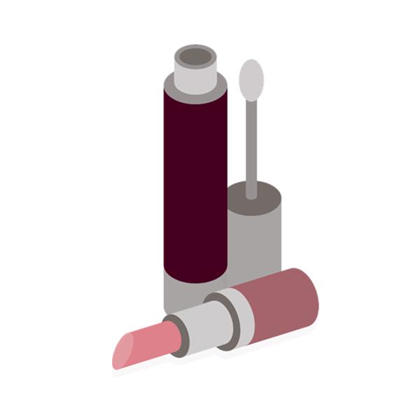 シリンダー化粧品ボトルラベル