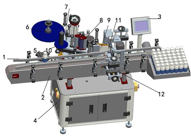 ラベル印刷機の詳細図