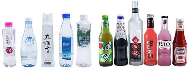 全自動高速ロータリーPETプラスチックボトルラベリングマシンボトルの種類